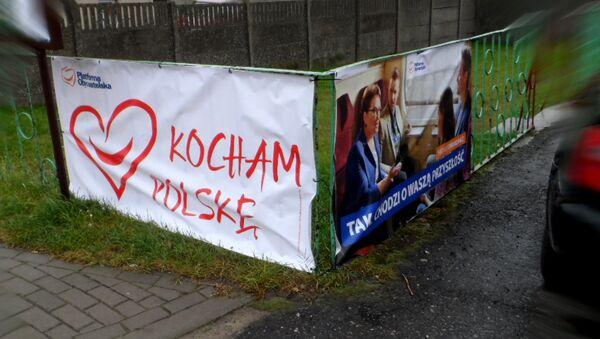 Wybory parlamentarne-2015 w Polsce, kampania wyborcza w Bierzwniku - Sputnik Polska