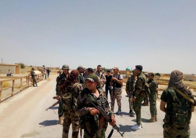 Syryjczycy obrzucili kamieniami amerykański patrol wojskowy