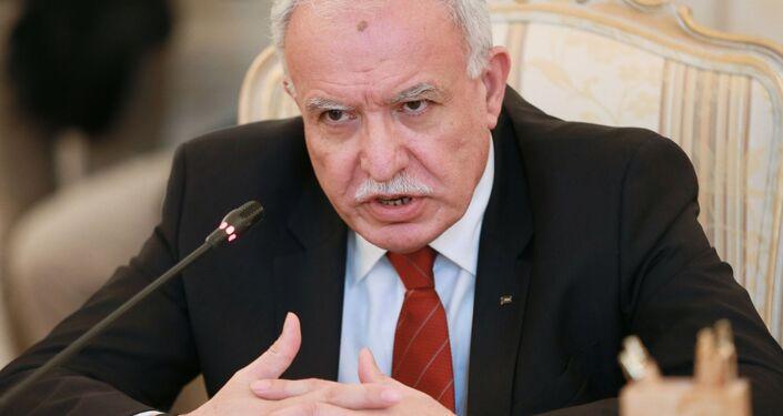 Minister spraw zagranicznych Państwa Palestyna Riyad al-Maliki
