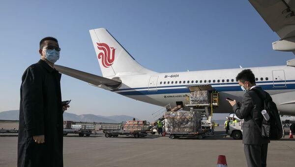 Samolot Air China na lotnisku w Atenach - Sputnik Polska