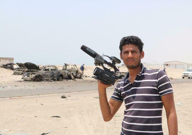 Stringer agencji Ruptly Nabil Hassan al-Kaiti