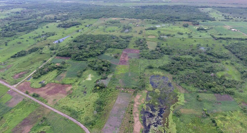 Zdjęcie lotnicze fragmentu Aguada Fenix