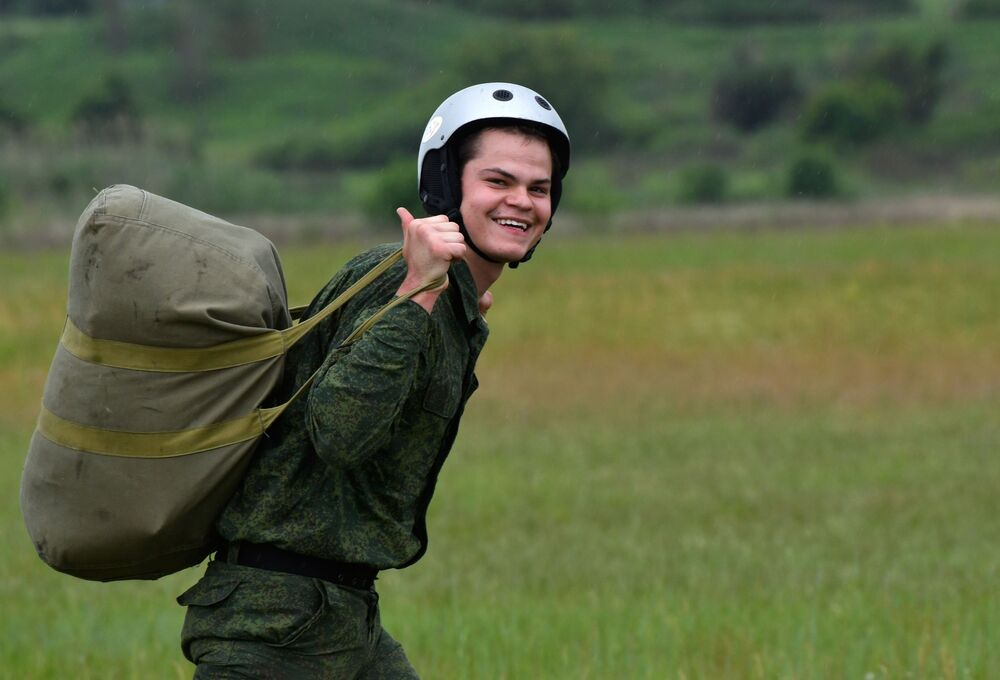 Szkolenia przyszłych desantowców w Kraju Krasnodarskim