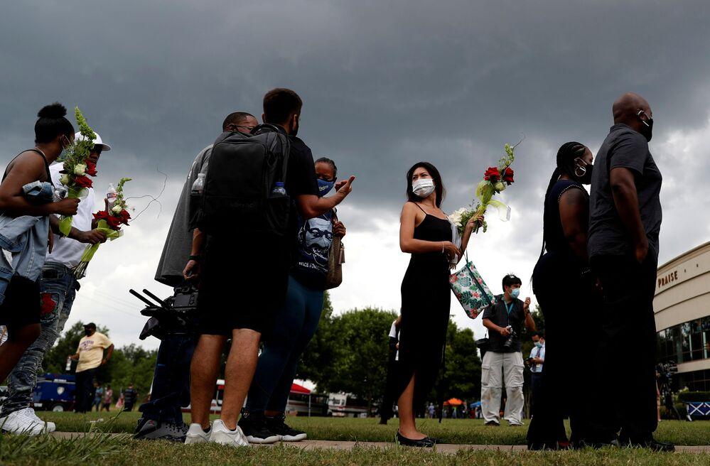 Ceremonia pożegnania George'a Floyda w Houston