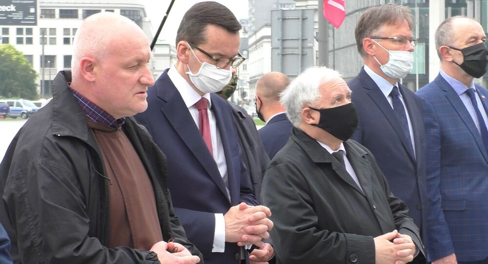 Miesięcznica smoleńska w Warszawie, 10 czerwca 2020 r.