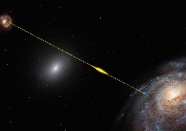 Obraz impulsu radiowego FRB 181112 w kosmosie