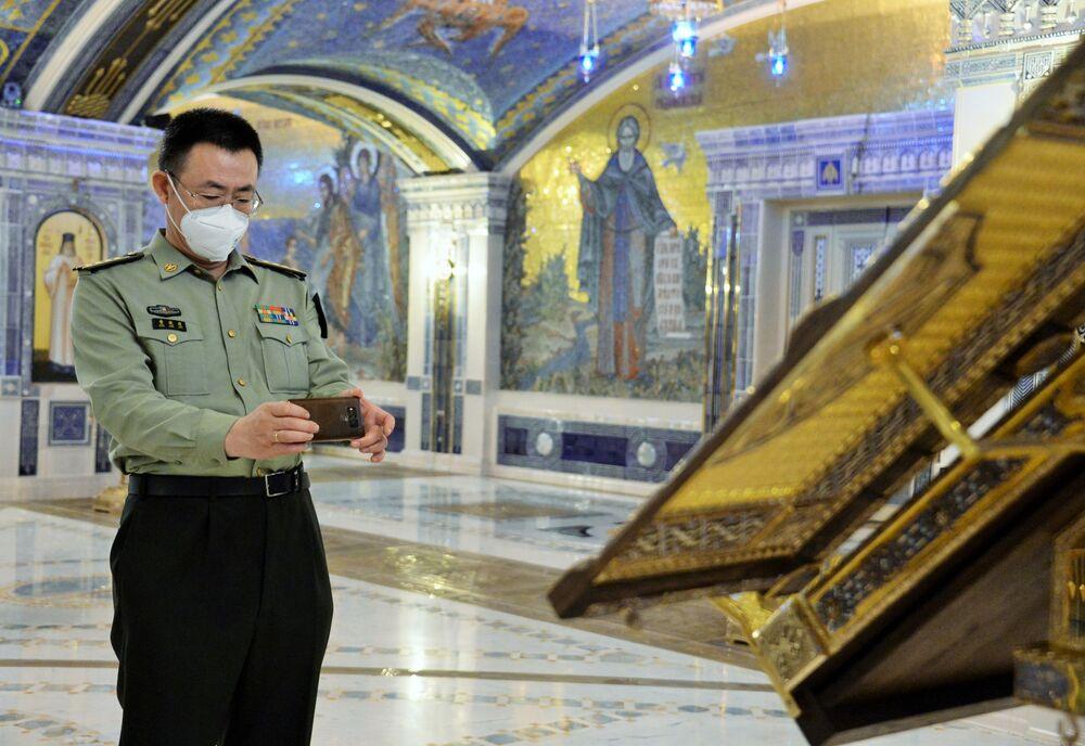 Przedstawiciel Chin w głównej świątyni Sił Zbrojnych Federacji Rosyjskiej