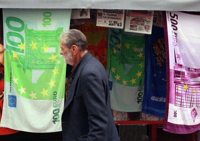 Ręczniki z ilustracjami banknotów euro
