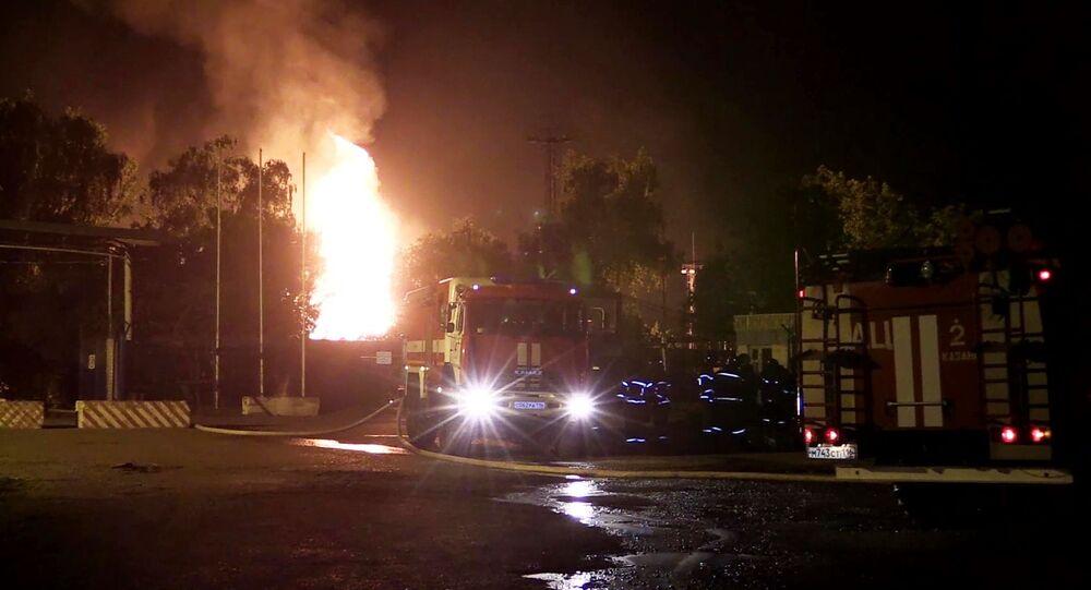Pożar na stacji gazowej w Kazaniu
