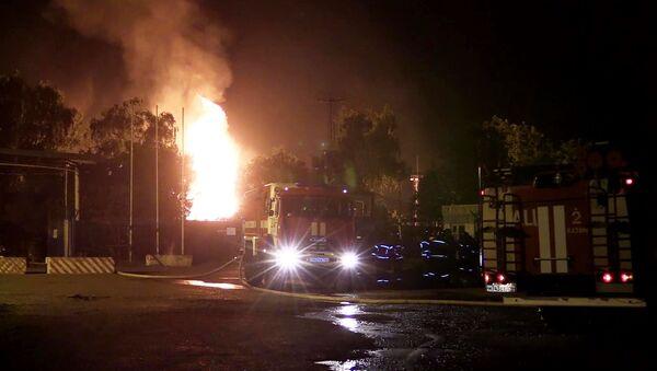 Pożar na stacji gazowej w Kazaniu - Sputnik Polska