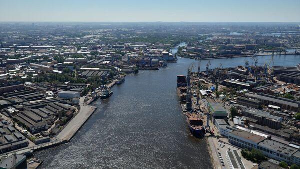 Rzeka Newa, Petersburg - Sputnik Polska