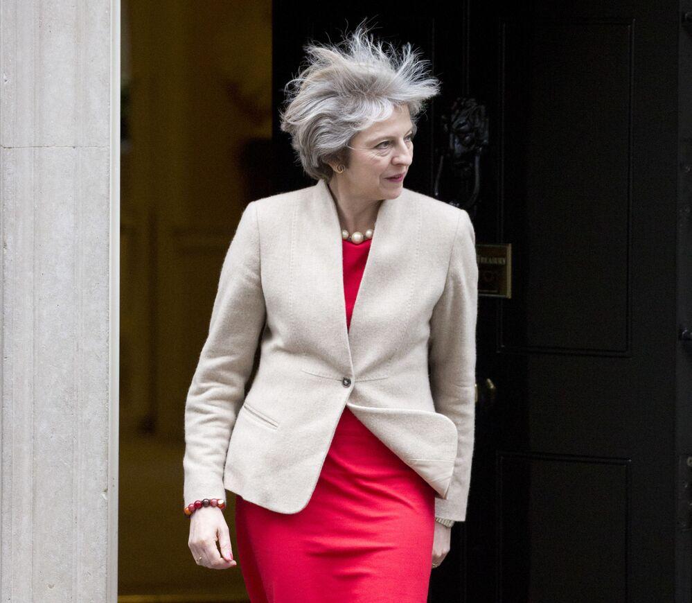 Premier Wielkiej Brytanii Theresa May w Londynie, 2017 rok