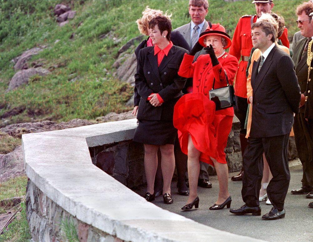Królowa Elżbieta II podczas wizyty w Kanadzie, 1997 rok