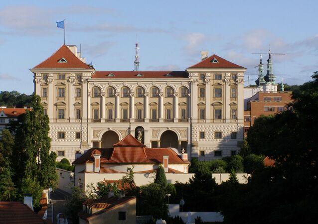 Pałac Czerniński na Placu Hradczańskim, w którym mieści się Ministerstwo Spraw Zagranicznych Republiki Czeskiej
