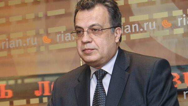 Konferencja prasowa Andrieja Karłowa w agencji RIA Novosti - Sputnik Polska