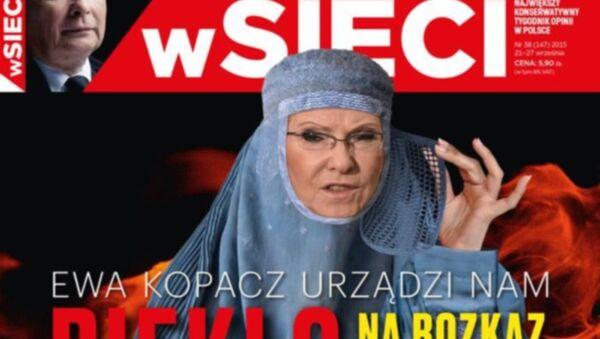 Ewa Kopacz na okładce wSieci - Sputnik Polska