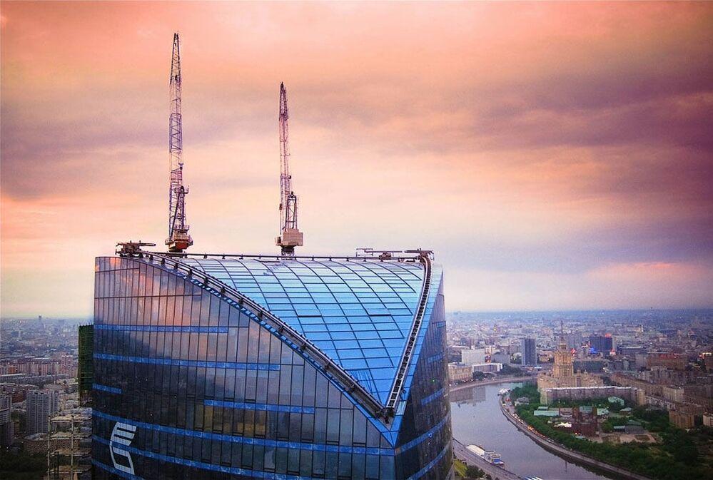 Drapacz Wierza Federacja w Moskwie