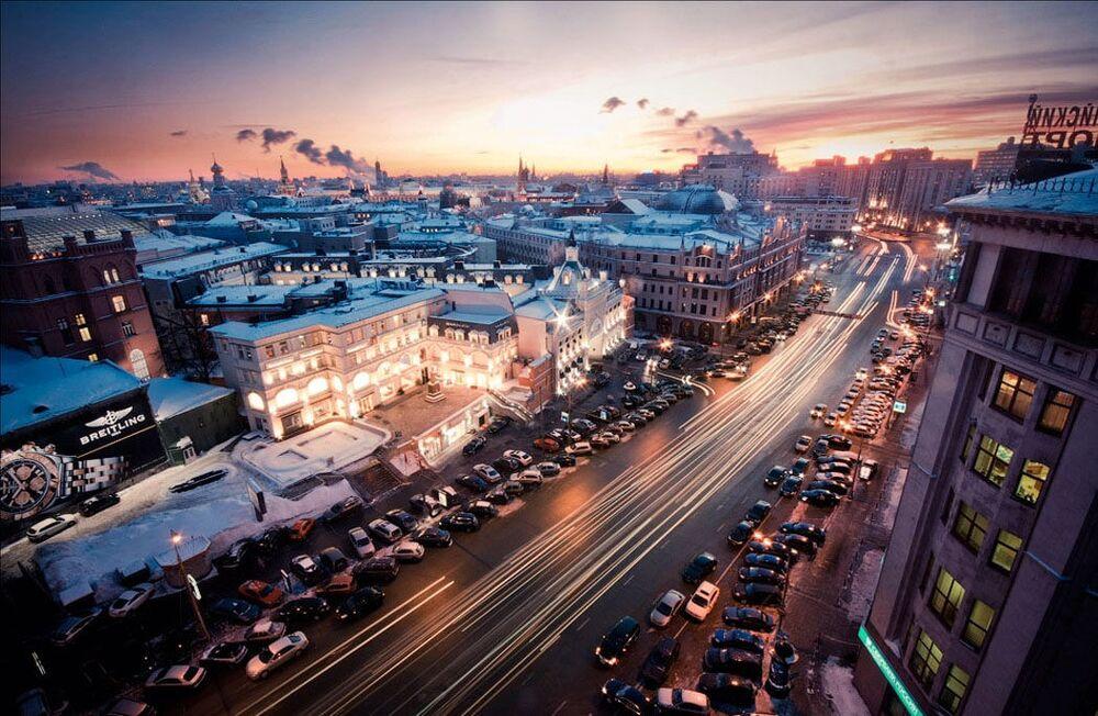 Widok na miasto w centrum Moskwy