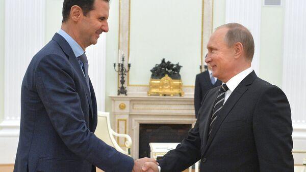 Prezydent Rosji Władimir Putin spotkał się z prezydentem Syrii Baszarem al-Asadem - Sputnik Polska