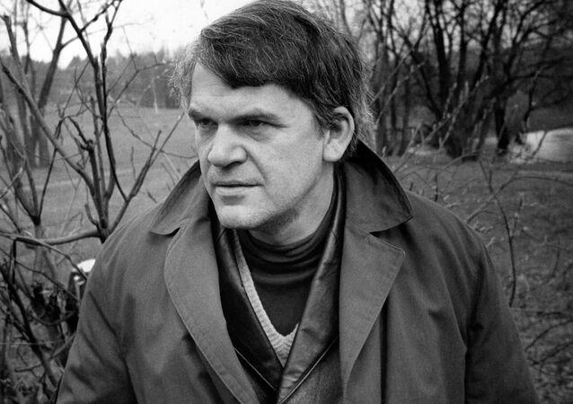 Czeski pisarz Milan Kundera