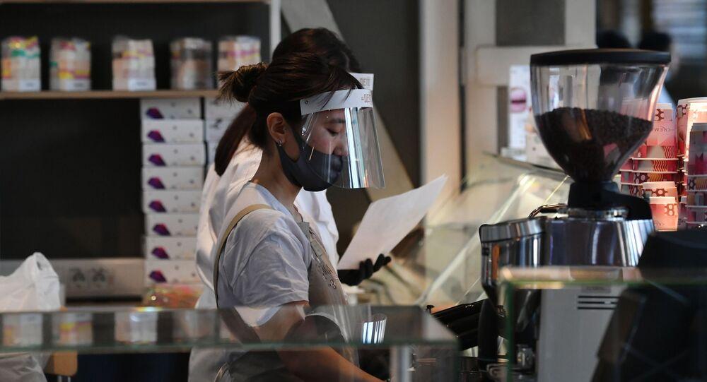 Pracownica kawiarni w Moskwie