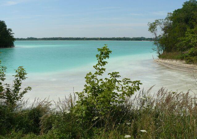 Jezioro we wsi Gajówka, tzw. Polskie Malediwy