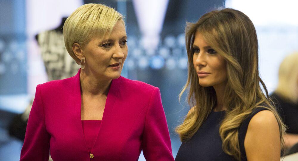Melania Trump i Agata Kornhauser-Duda