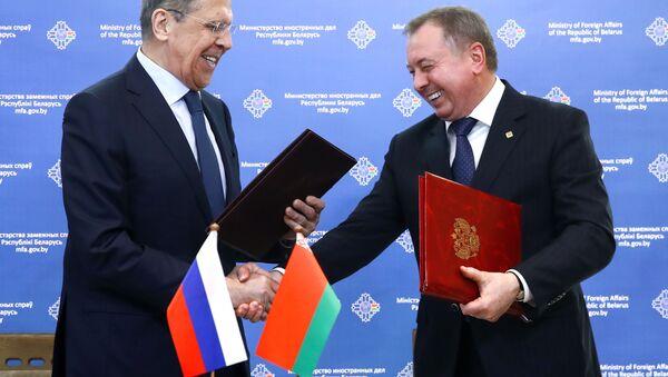 Szef rosyjskiego MSZ Siergiej Ławrow z wizytą na Białorusi - Sputnik Polska