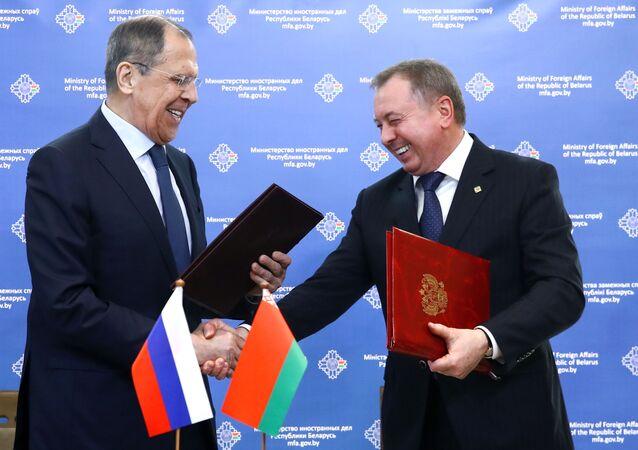 Szef rosyjskiego MSZ Siergiej Ławrow z wizytą na Białorusi