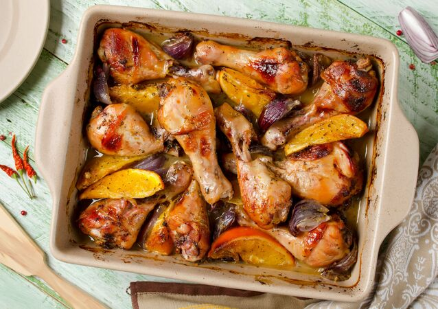 Pieczone udka z kurczaka