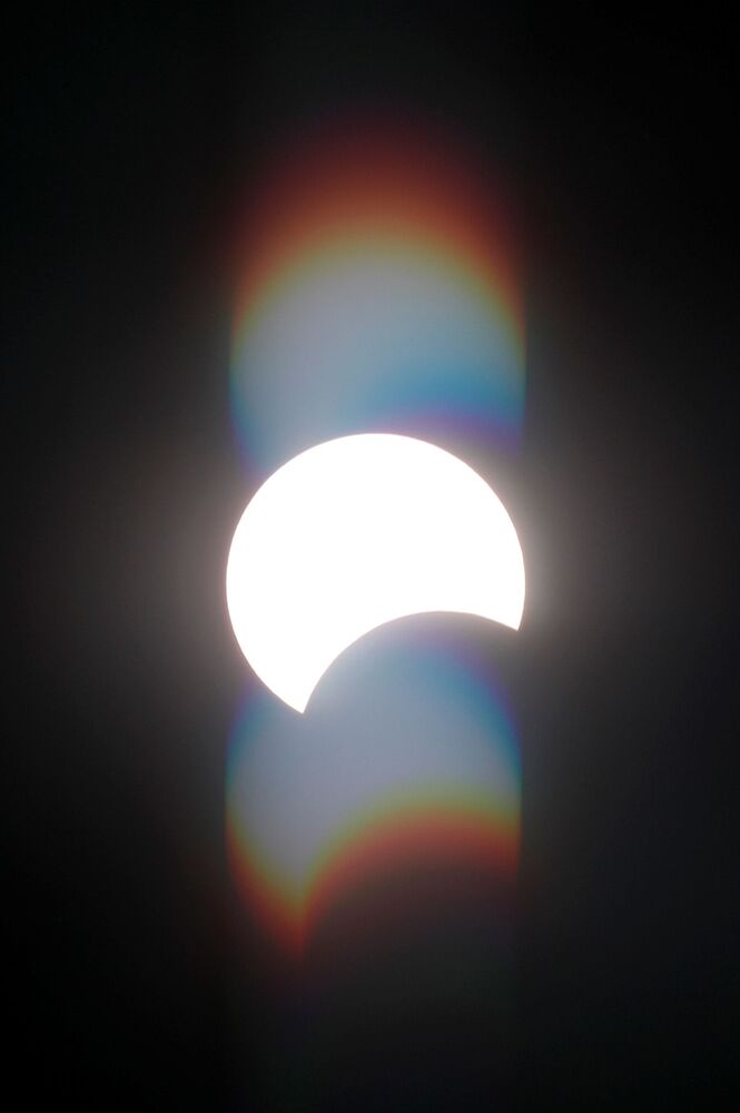 Сzęściowe zaćmienie Słońca w Egipcie