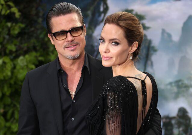 Brad Pitt i Angelina Jolie w 2014 roku