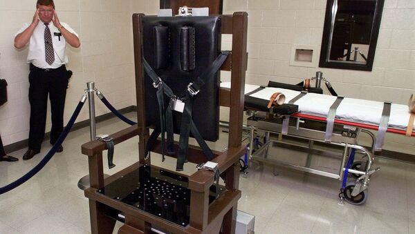 Krzesło elektryczne w więzieniu  Riverbend Maximum Security Institution w Nashville w Tennessee - Sputnik Polska