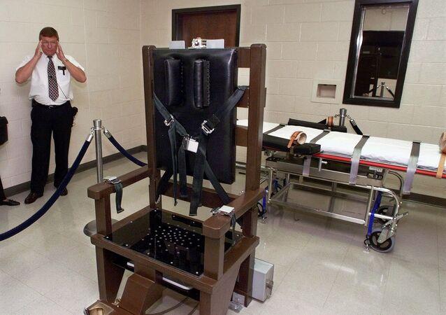 Krzesło elektryczne w więzieniu  Riverbend Maximum Security Institution w Nashville w Tennessee