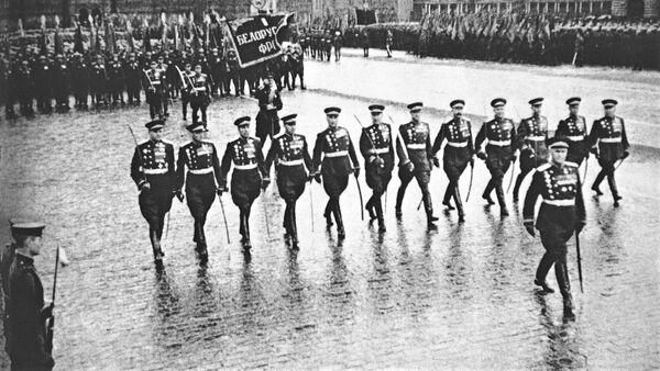 Marszałek ZSRR Wasilij Sokołowski na Placu Czerwonym, 24 czerwca 1945 roku - Sputnik Polska