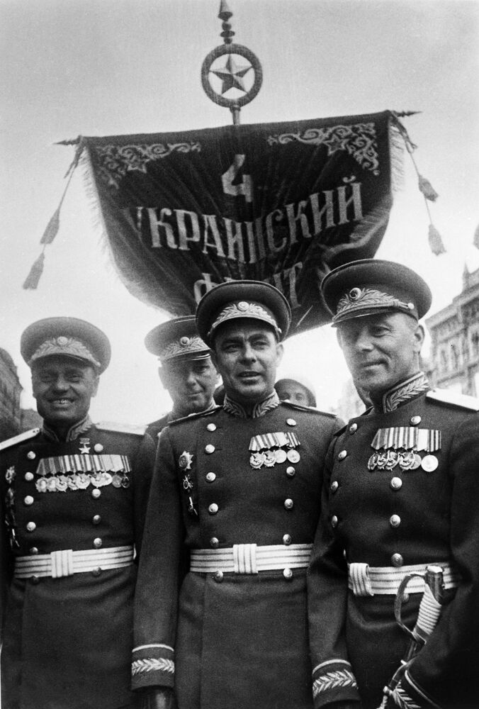 Defilada Zwycięstwa na Placu Czerwonym 24 czerwca 1945 roku