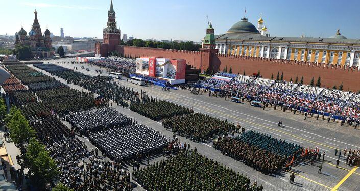 Defilada Zwycięstwa w Moskwie z okazji 75. zakończenia Wielkiej Wojny Ojczyźnianej