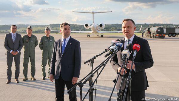 Prezydent Andrzej Duda przed wylotem do USA - Sputnik Polska