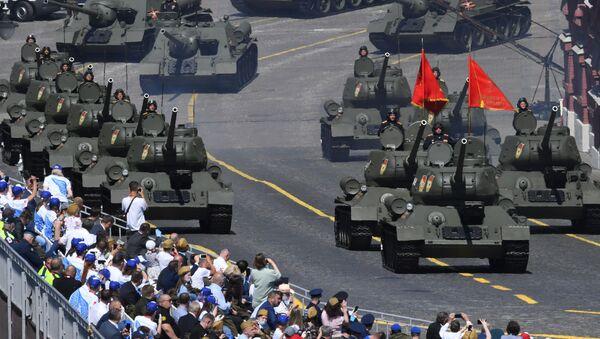 Defilada Zwycięstwa na Placu Czerwonym z okazji 75. rocznicy zwycięstwa nad hitlerowskimi Niemcami - Sputnik Polska