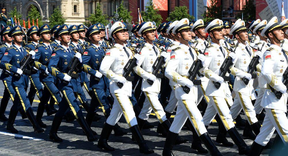 Przedstawiciele chińskiej armii na Defiladzie Zwycięstwa 2020
