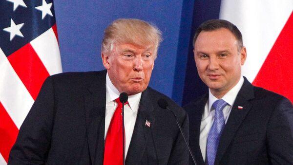 Donald Trump i Andrzej Duda - Sputnik Polska