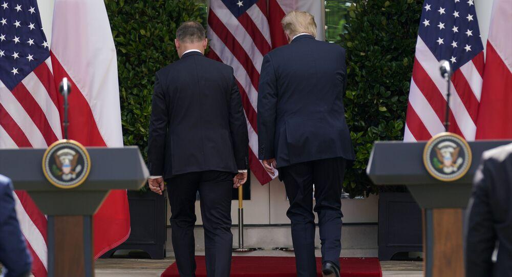 Spotkanie prezydenta Andrzeja Dudy i prezydenta Donalda Trumpa w Waszyngtonie