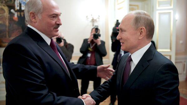 Prezydent Białorusi  Alaksandr Łukaszenka i prezydent Rosji Władimir Putin - Sputnik Polska