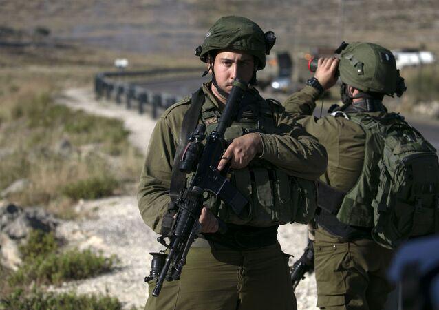 Izraelscy wojskowi na okupowanym przez Izrael Zachodnim Brzegu