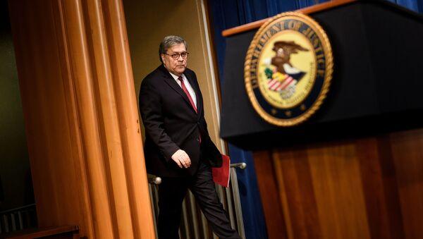 Prokurator generalny Stanów Zjednoczonych William Barr. - Sputnik Polska