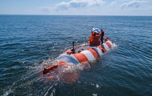 Ratownicy Floty Bałtyckiej przeprowadzili trening w ramach pomocy okrętowi podwodnemu - Sputnik Polska