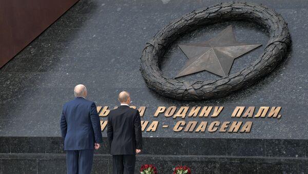 Odsłonięcie pomnika żołnierza radzieckiego pod Rżewem - Sputnik Polska