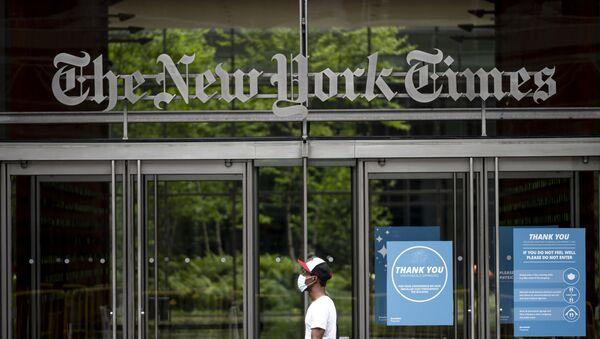 Wejście do budynku redakcji gazety The New York Times w Nowym Jorku - Sputnik Polska
