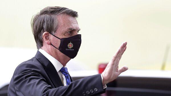 Prezydent Brazylii Jair Bolsonaro - Sputnik Polska