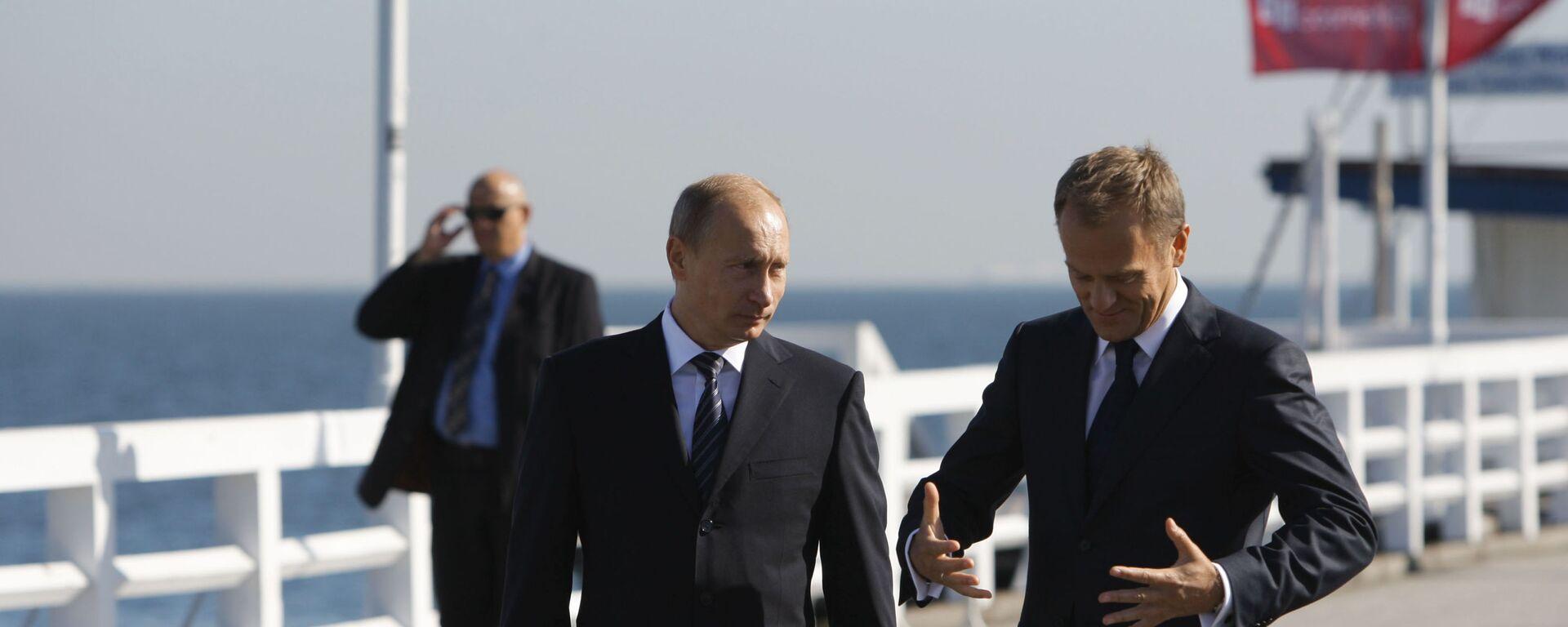 Władimir Putin na sopockim molo z Donaldem Tuskiem - Sputnik Polska, 1920, 29.07.2021